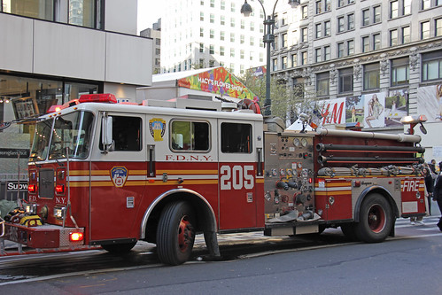 Macy's Herald Square Was Evacuated Wednesday Afternoon After A Fire Erupted In The Basement Of The Department Store, Sending More Than 1,000 Terrified Shoppers Spilling On To West 34th Street. Photo taken Wednesday April 4, 2012 | by ses7