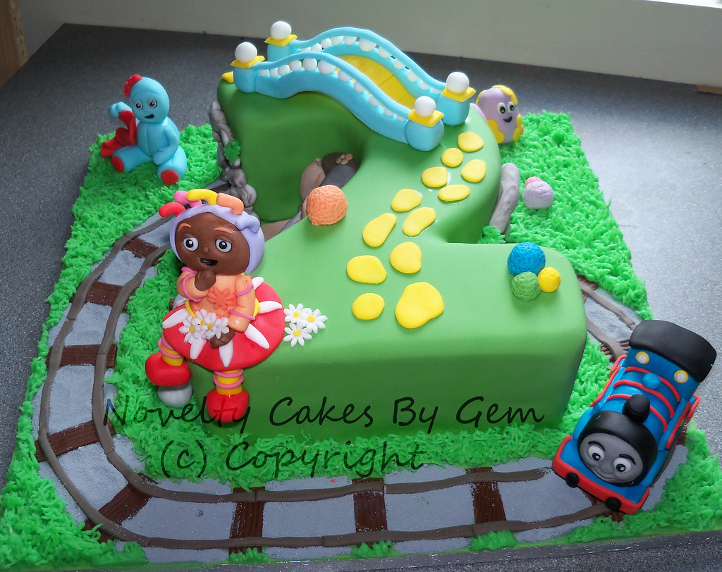 Number in the night garden cake with thomas tank engine | Flickr