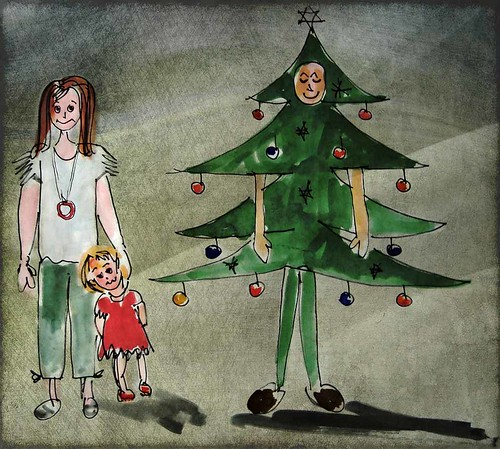 """Welcome"" said the smiling Xmas tree 