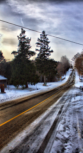 HDR Winter Road | by SeRVe Photography