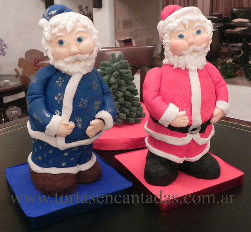 Santa claus 3d cakes and candy tree tortas de pap noel - Caramelos de navidad ...
