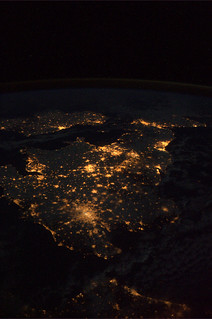 United Kingdom and Ireland as seen from ISS | by europeanspaceagency