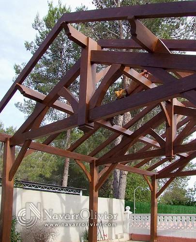 Estructura de madera para p rgola alberic estructura - Estructuras de madera para techos ...