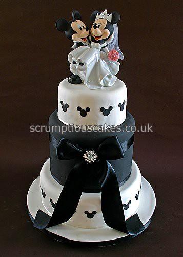 Wedding Cake (698) - Mickey & Minnie | A 6, 2 x 8 & 10 inch … | Flickr