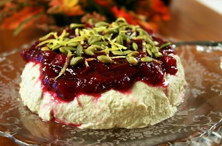 Cashew-Pumpkin Seed Cheese with Apple-Cranberry Sauce | by Kim | Affairs of Living