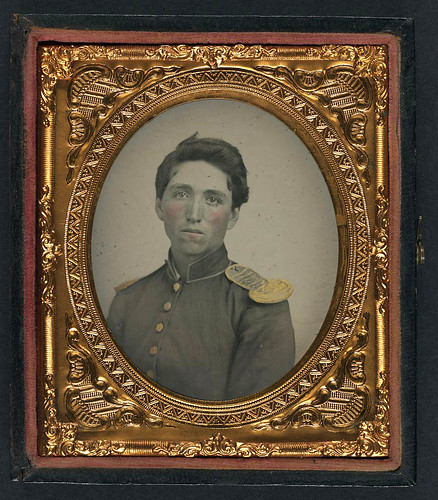 [Private John Ryan of Company H, 2nd Rhode Island Infantry Regiment in uniform with shoulder scales] (LOC) | by The Library of Congress