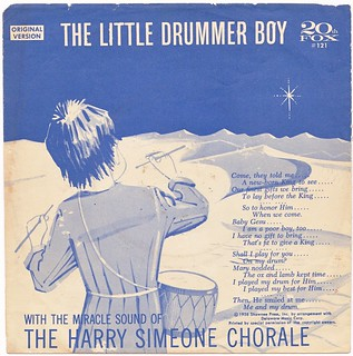 THE TWELVE (45 RPM) SLEEVES OF CHRISTMAS: 'The Little Drummer Boy' - The Harry Simeone Chorale (1958) | by RetroLand U.S.A.