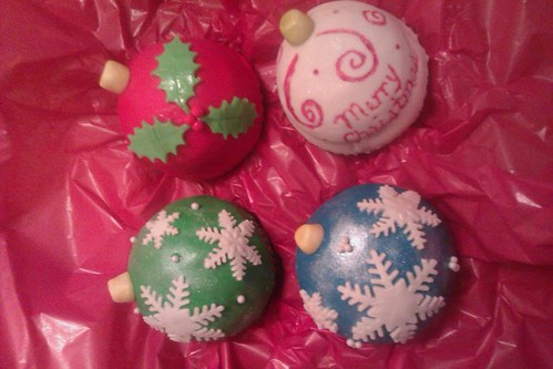 "ornament cupcakes2 | by steffie's sweet ""sin""sations"