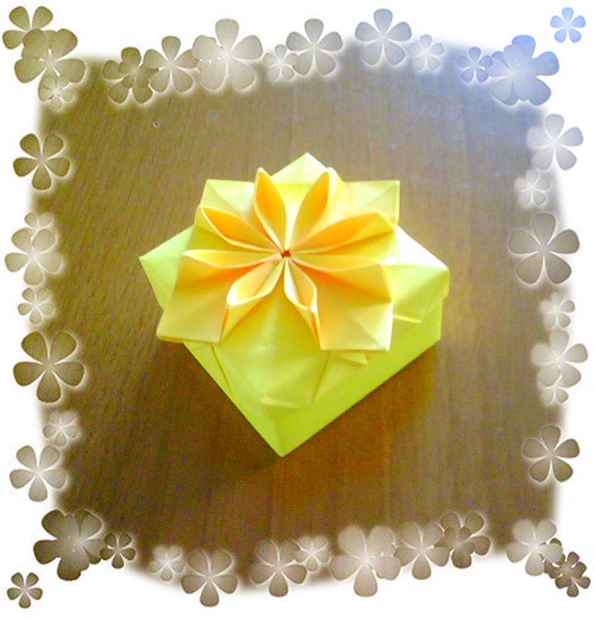Origami flower box new version katrins18 flickr origami flower box new version by katrins18 mightylinksfo