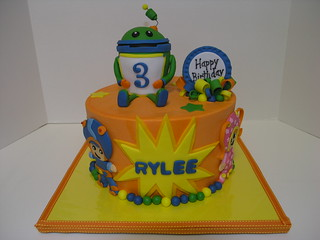 message on cake team umizoomi buttercream with fondant accents bot is 5842