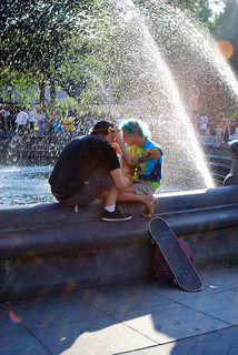 Couple by Fountain - Washington Square | by Rachel Citron