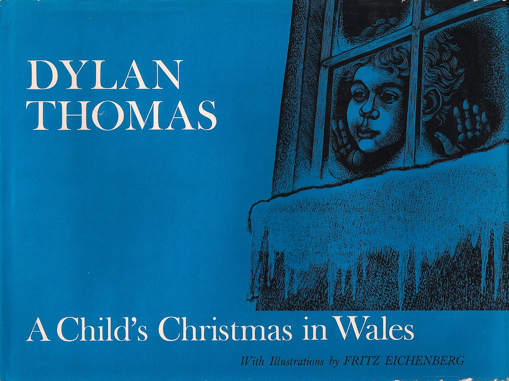vintage childrens book a childs christmas in wales by jill_m_casey
