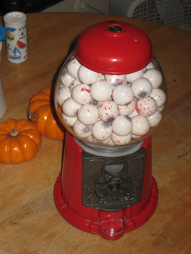 new gumball machine with spooky gumballs | by i eated a cookie