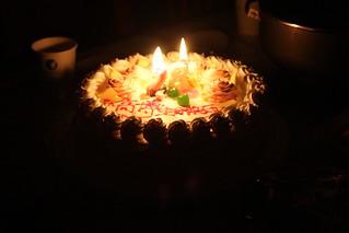 Burning Birthday Cake Gif