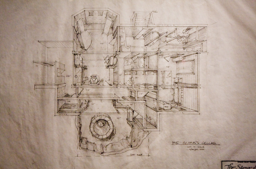... Plan For The Killeru0027s Basement In Silence Of The Lambs, Museum Of The  Moving Image