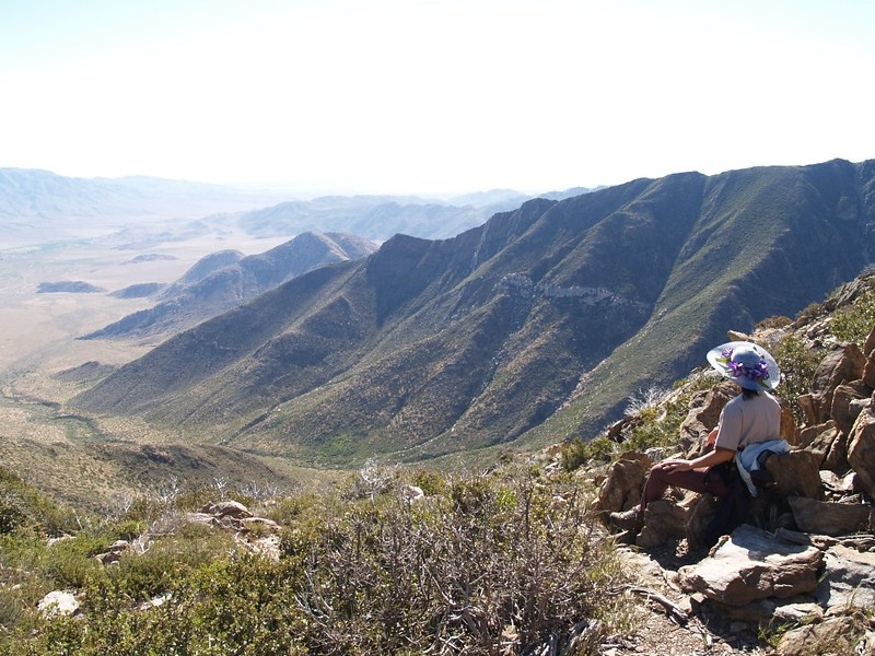 Taking a break with a view out over the Anza-Borrego Desert