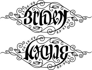 """Bryden"" & ""Kayle"" Ambigram 