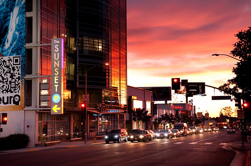 Downtown Los Angeles >> Sunset on Sunset | sunset on Sunset BLVD, Los Anleses Sunset… | Flickr