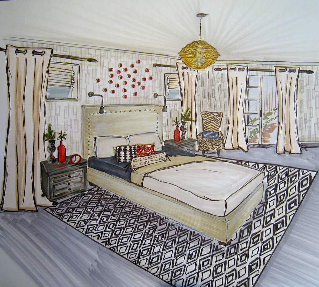 Master bedroom drawing - Master Bedroom Sketch By Asdinteriors Master Bedroom Sketch By Asdinteriors