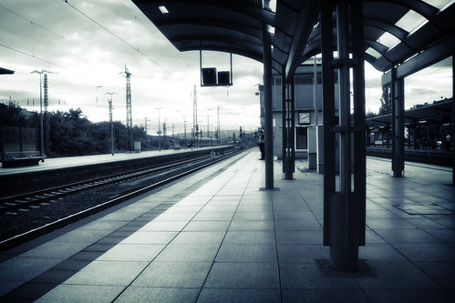 Train Station and Man | by kirberich