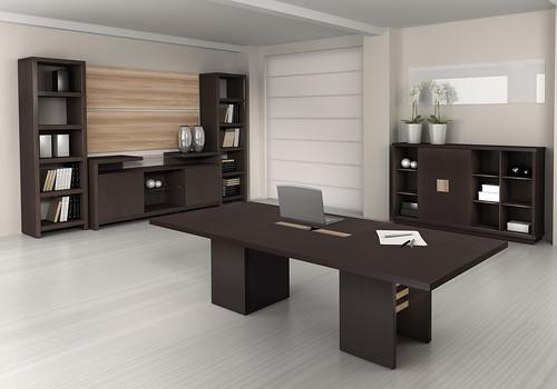 mesa de reuni o madeira projeto k mobili rio corporativo