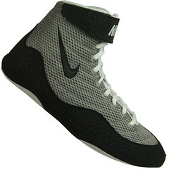 Nike Inflict Wrestling Shoes in Gray and Black 3 | by wrestlinggear ...