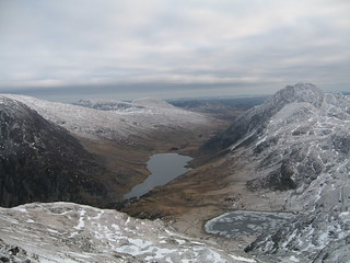 Llyn Ogwen and Idwal from Banana Gully | by Adrian Fagg