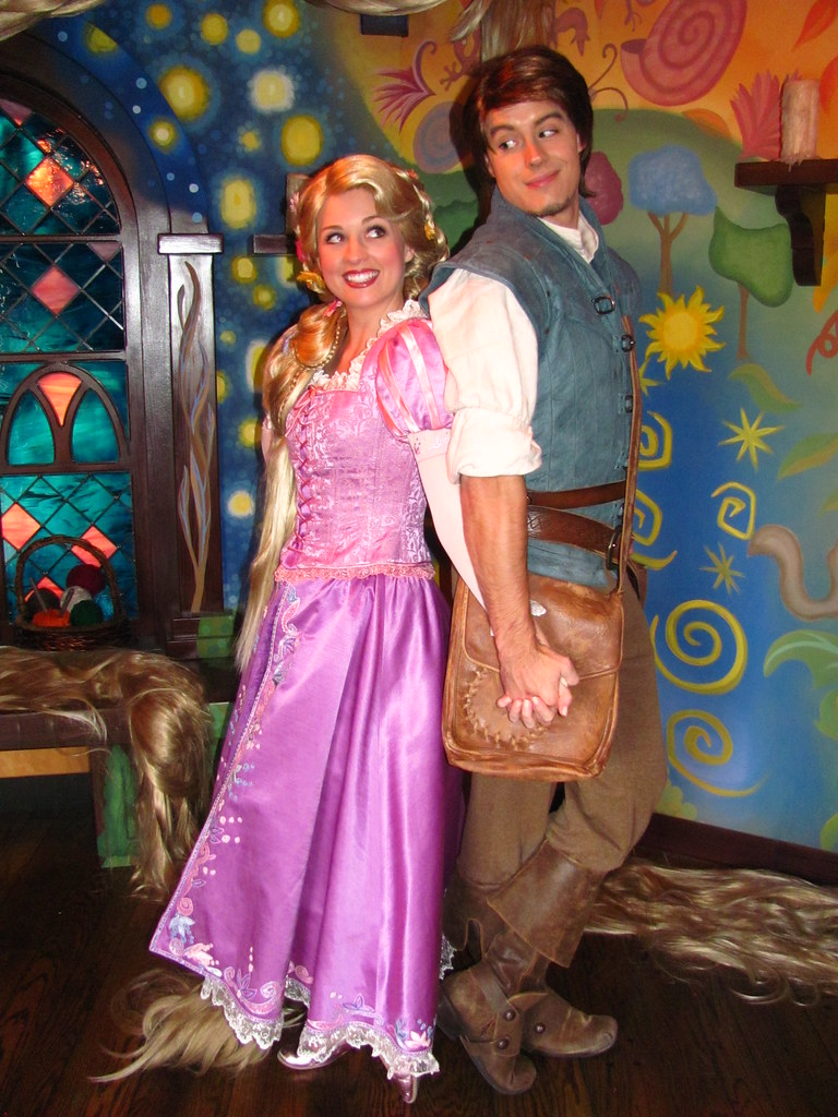 Meeting Rapunzel And Flynn Rider At The Tangled Meet And G Flickr
