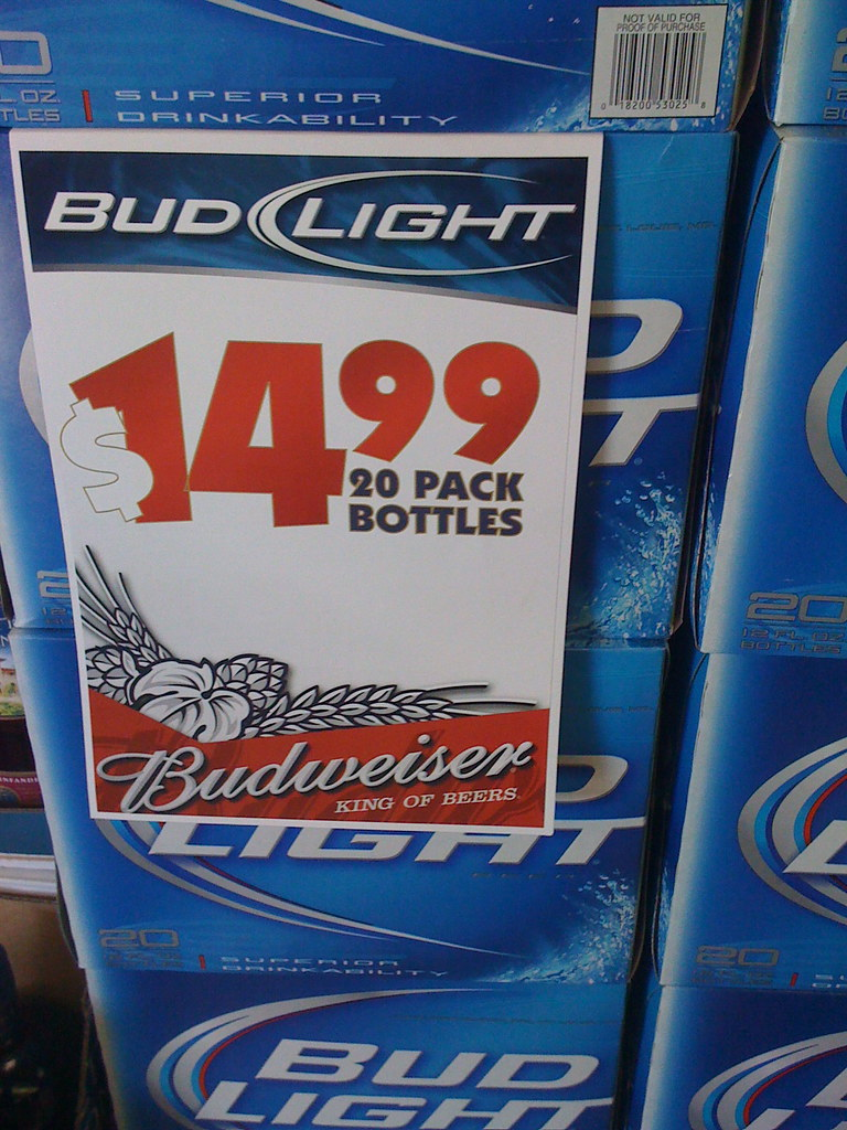Nice ... Bud Light U0026 Budweiser Price Card | By Retailpics Photo