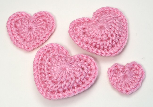 Crocheted Love Hearts I Designed 4 Different Love Hearts Flickr