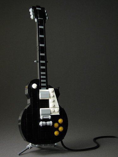 Les Paul Standard in LEGO | by mondayn00dle