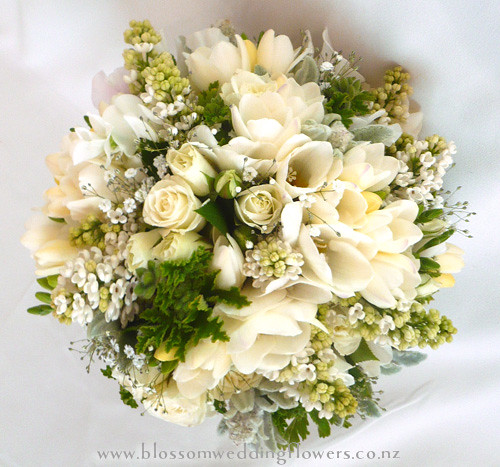 fresh wedding bouquet bridal bouquet using cream freesia flickr. Black Bedroom Furniture Sets. Home Design Ideas