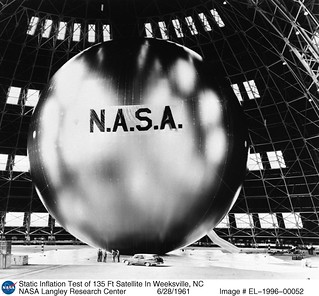 Inflation Test of 135 Ft Satellite In Weeksville, NC | by NASA on The Commons