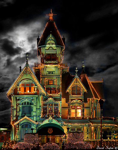 Carson mansion christmas lights, 2010 | by David Safier - redwoodimage