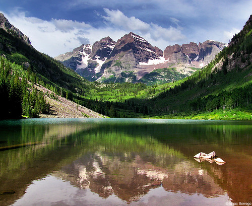 Maroon Lake Reflection - Elk Mountains, Aspen, Colorado | by isaac.borrego