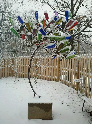 Snow bottle tree k r flickr for How to make a wine tree