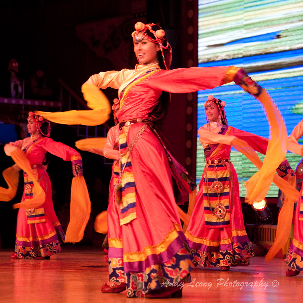 cultural dance ladies in colorful traditional costumes per flickr