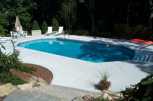 Grecian vinyl liner pool grecian shape vinyl liner pool for Grecian pool shape