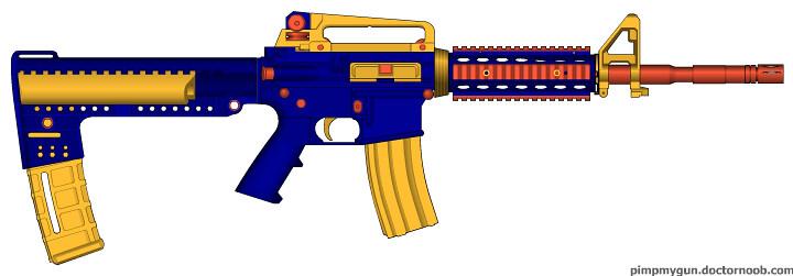 ... Custom M4 NERF | by gunner2011