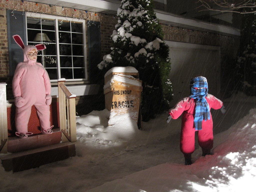 a christmas story yard display by ellen bulger