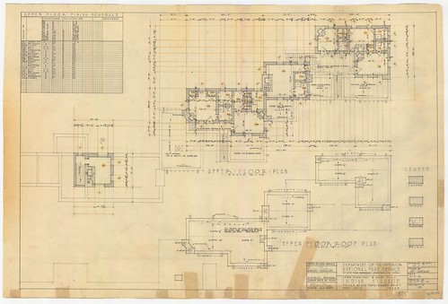 Davis Mountains State Park - Upper Floor Plan and Roof Plan, Indian Village - SP.47.55_thumb | by Texas State Archives