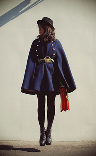 my Navy MILITARY CAPE | by tinytoadstool by shan shan