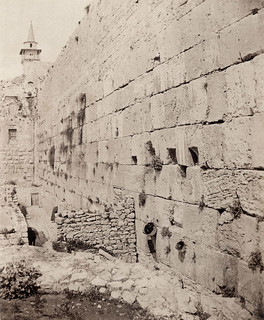 "The Western (""Wailing"") wall in Jerusalem. 