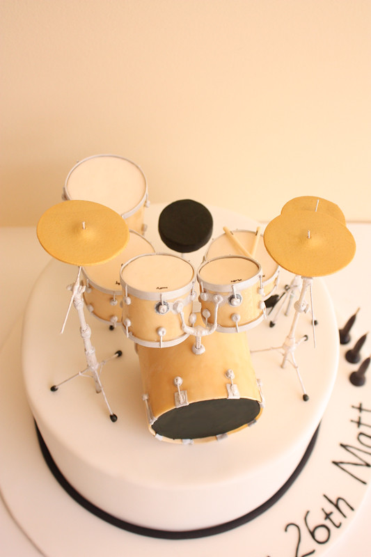 Drum Kit Birthday Cake Above 9 Chocolate Mud Cake Finis Flickr