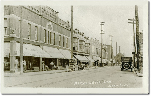 Harrison Street looking north, Alexandria, Indiana | by Hoosier Recollections