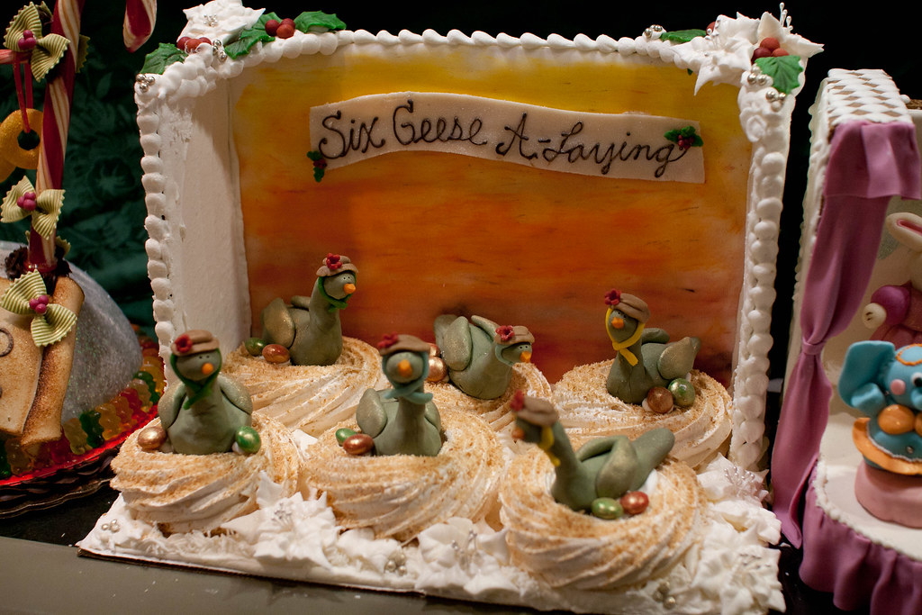 Six Geese A Laying Cake By Andy Oakley