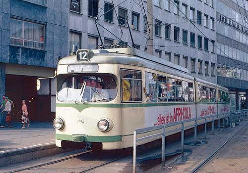 kvb koeln tram 3774 in 1979 at barbarossaplatz on route flickr. Black Bedroom Furniture Sets. Home Design Ideas