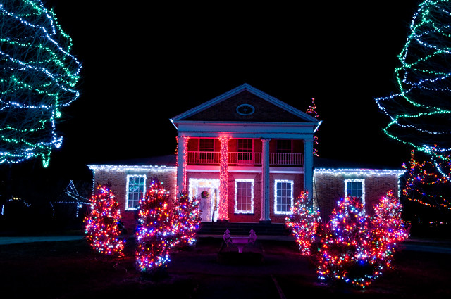 christmas lights at upper canada village morrisburg ontario 2010 by ron hay