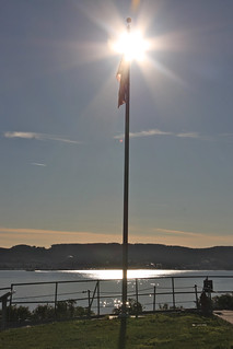 Alcatraz Flag Pole and Sun | by erikrasmussen