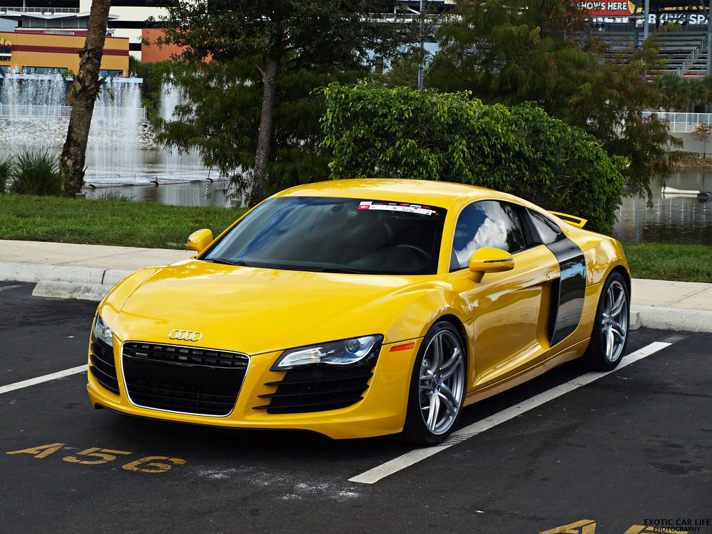 Audi R8 Yellow Like My Facebook Page For More Content C Flickr